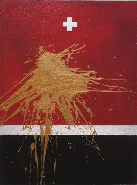 , 'Study for Universal Flag No.12,' 2016, Zhou B Haus der Kunst