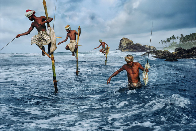 , 'Stilt fishermen, Weligama, South Coast, Sri Lanka,' 1995, Sundaram Tagore Gallery
