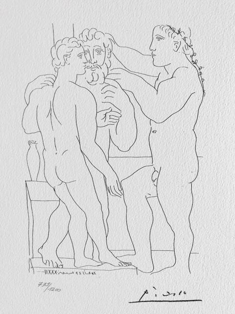 Pablo Picasso, 'Deux Hommes sculptés (Suite Vollard Planche LII)', 1973, ByNewArt