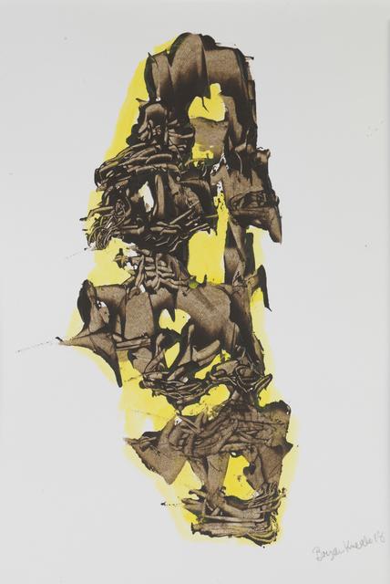 Bryan Kneale, 'Untitled Brown on Yellow', 2018, Pangolin London