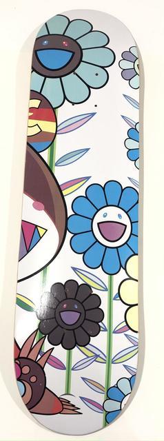 Takashi Murakami, 'Eden Flowers Skate Deck', 2019, Sculpture, Silkscreen on maple wood skate deck, Samhart Gallery
