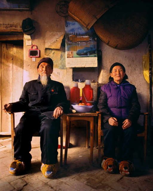 , 'Seventy-Four year-old Zheng Hailin and his 69 year-old wife LiXiuying, Xinzhai Village, Yangzhuang Township of Baofeng County,' 1997, Galerie Julian Sander