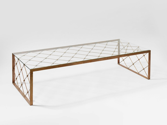 "Jean Royère, '""tour eiffel"" coffee table', ca. 1950, Design/Decorative Art, Brass and glass, Galerie Jacques Lacoste"