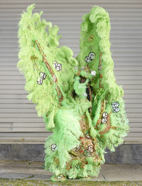 , 'Mardi Gras Indians (green),' 2015, Yam Gallery