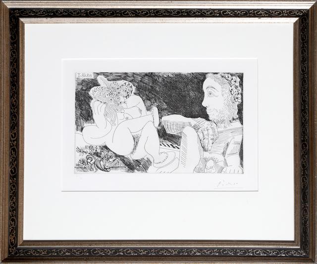Pablo Picasso, 'Au Jardin: Odalisque en pantoufles au chapeau, avec des fleurs, et spectateur', 1968, RoGallery