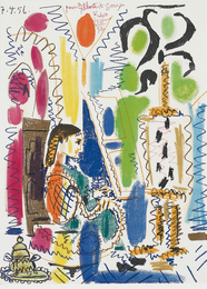 Pablo Picasso, 'L'Atelier de Cannes (Cannes Studio) (cover for Ces peintres nos amis vol. II),' 1958, Phillips: Evening and Day Editions