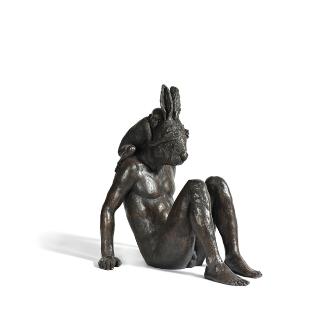 Beth Carter, 'Monkey and Hare', Sculpture, Bronze, Hugo Galerie