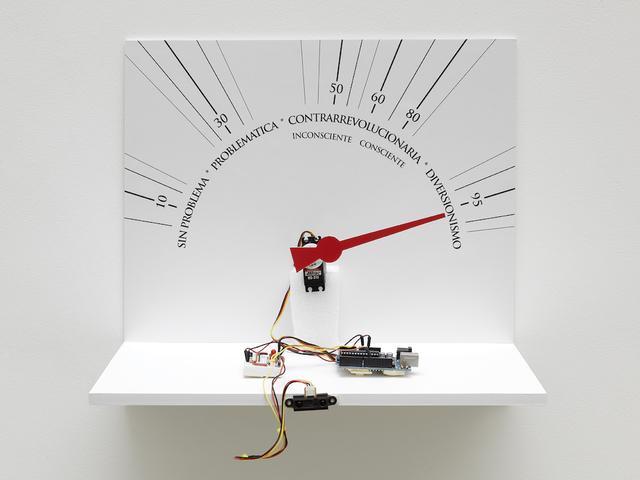 Lázaro Saavedra, 'Detector de ideologias (version n°4 prototype)', 2010, Installation, Mixed Media, GALERIE GEORGES-PHILIPPE ET NATHALIE VALLOIS