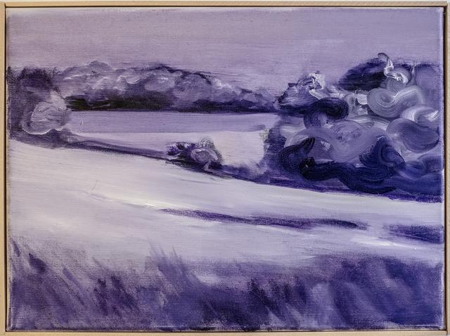 , 'Untitled (Landscape from train window between Hamburg and Berlin, violet),' 2018, heliumcowboy