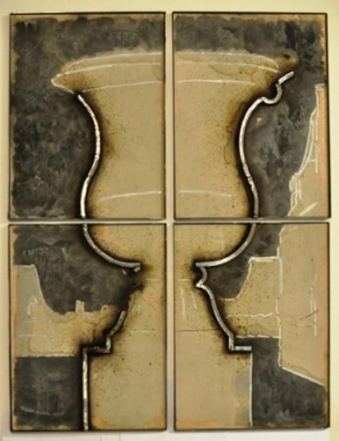 Juan Garaizabal, 'Wall Pattern Vase Tuileries IV', 2014, Sculpture, Steel on wood and concrete, Bogena Galerie