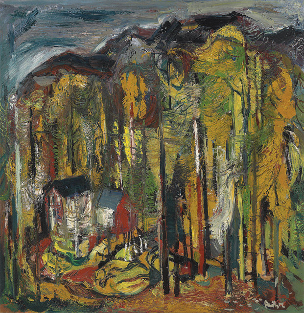 Avinash Chandra, 'Untitled (Houses in the forest)', ca. 1950, DAG