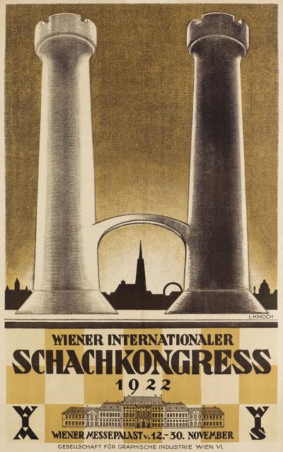 Ludwig Kmoch, 'WIENER INTERNATIONALER SCHACHKONGRESS', 1922, Swann Auction Galleries