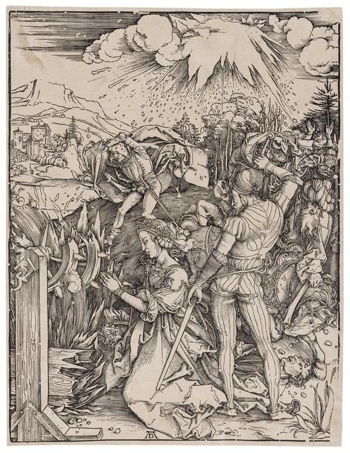 Albrecht Dürer, 'The Martyrdom of Saint Catherine', circa 1498, Print, Woodcut, Forum Auctions