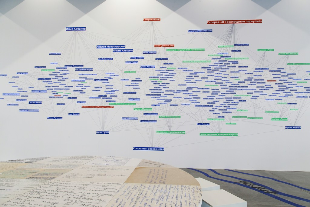 """The Family Tree of Russian Contemporary Art"" (2015) at Garage Museum of Contemporary Art, Moscow. Photo: Lily Idov"