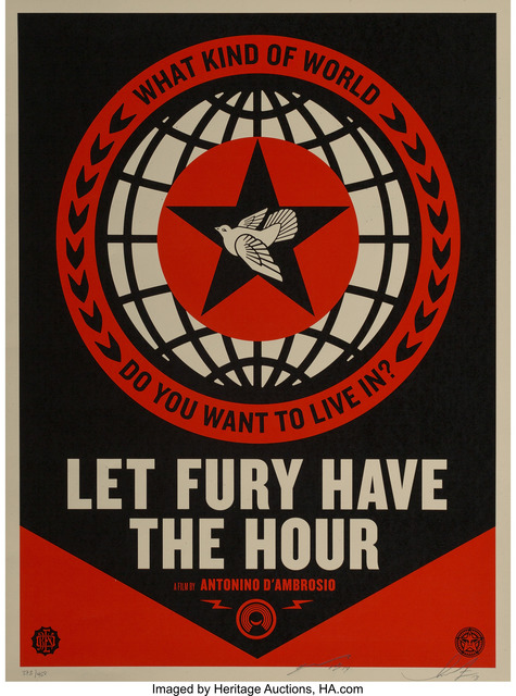 Shepard Fairey (OBEY), 'Let Fury Have the Hour-Film Poster', 2013, Heritage Auctions