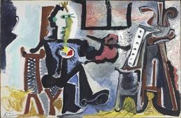 Pablo Picasso, 'The Painter in his Studio (Le Peintre Dans Son Atelier)', 1963, Yale University Art Gallery