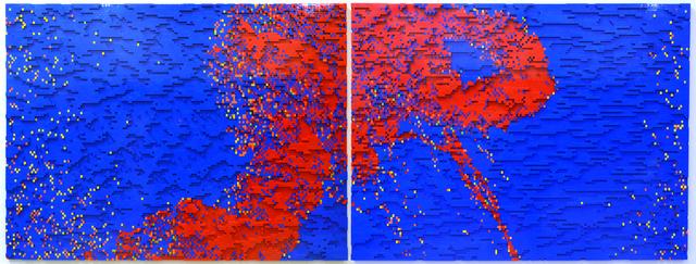 , 'T+85_red&blue_diptych,' 2013, Garis & Hahn