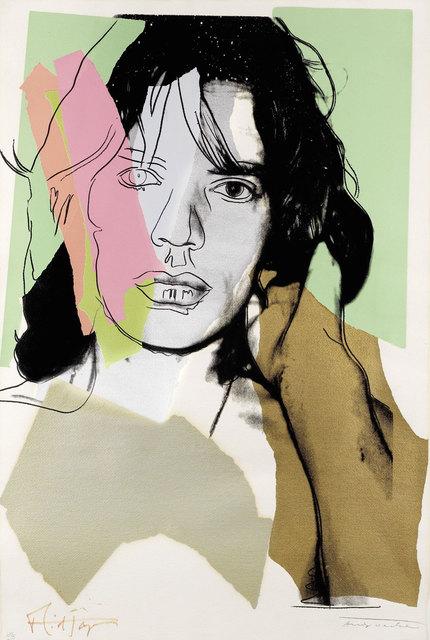 Andy Warhol, 'Mick Jagger (FS II.140)', 1975, Print, Screenprint on Arches Aquarelle paper, Revolver Gallery