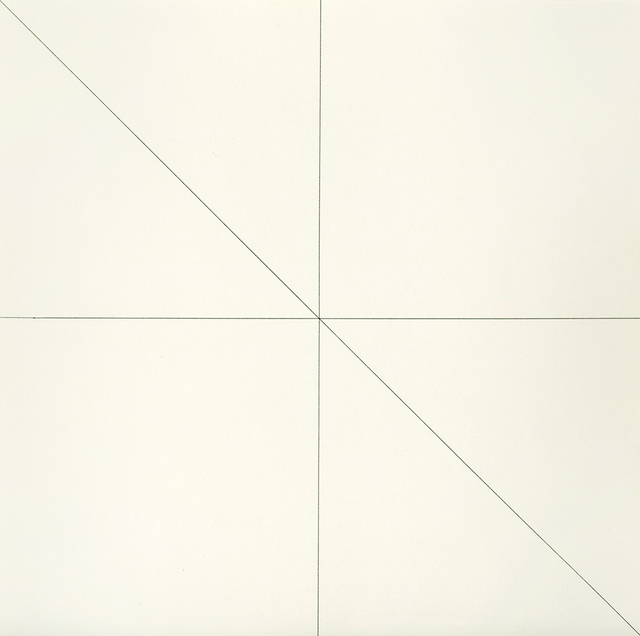 , 'Straight Lines in Four Directions & All Their Possible Combinations,' 1973, Susan Sheehan Gallery