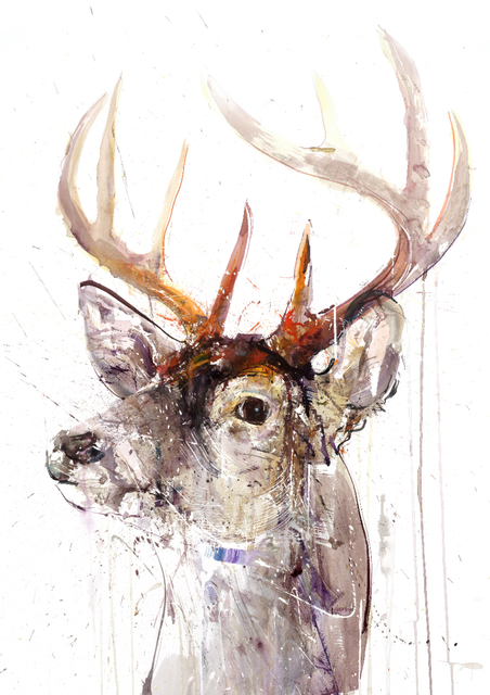 Dave White, 'Gold Leaf XL Stag', 2017, The Drang Gallery