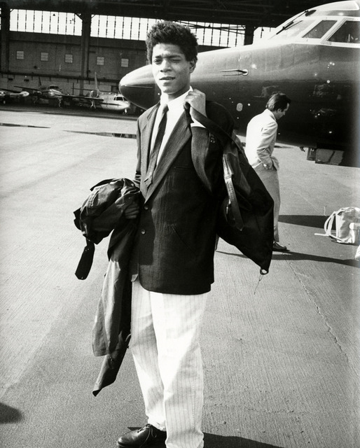 , 'Jean-Michel Basquiat boarding a private jet ,' 1983, Hedges Projects