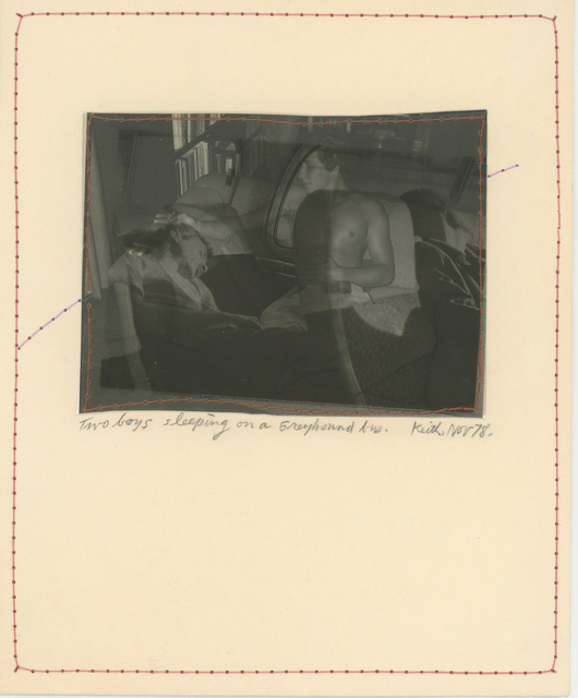 , 'Two Boys Sleeping on a Greyhound Bus, Nov 78,' 1978, Bruce Silverstein Gallery