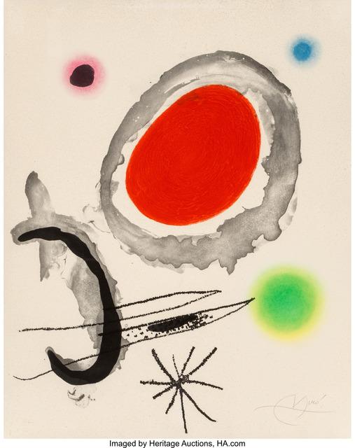 Joan Miró, 'Oiseau entre deux astres', 1967, Heritage Auctions