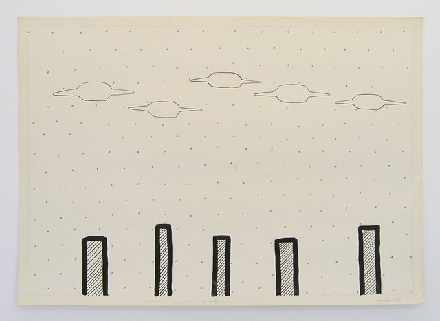 , 'Geo-graphic (Five UFOs above the Factory),' 1989-2005, Galerija Gregor Podnar