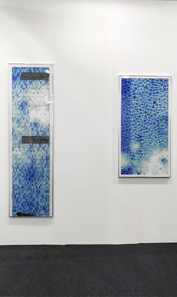 Wong Hau Kwei | Blue Sky Every Day | Colour & ink on paper | 216 x 24 cm (Left)