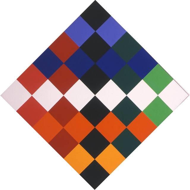 , 'farben um schwarz und weiss,' 1977, Lorenzelli arte