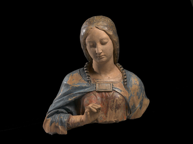 , 'Bust of the Virgin of the Annunciation,' North Italy (Mantua?)-circa 1500, Blumka Gallery