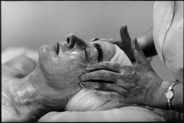 , 'Joan Crawford having a face massage. ,' 1959, Magnum Photos