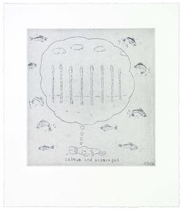 , 'Salmon and asparagus,' 2014, Polígrafa Obra Gráfica