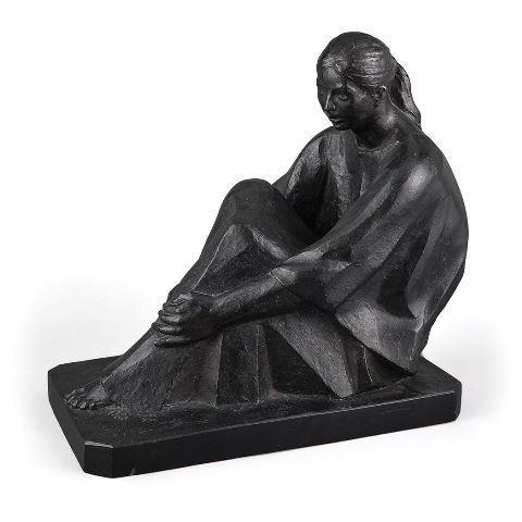 Felipe Castaneda, 'La Juania', 1995, Sculpture, Bronze with black patina, Doyle