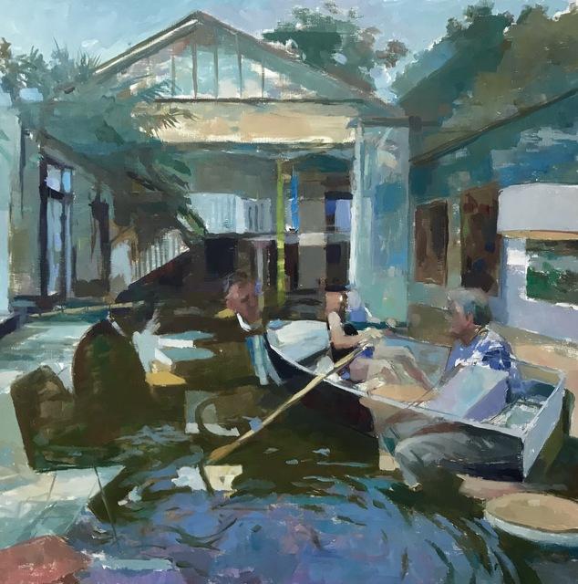 , 'Rowing Through Time,' 2019, Flow 305