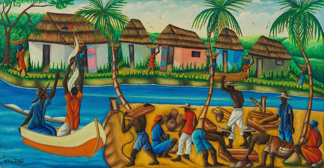 Gerard Valcin, ' Haitian River, 1964', dated 1964, ZQ Art Gallery