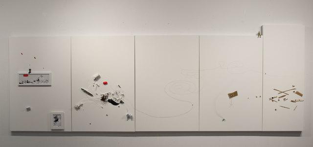 , 'Untitled With Mickey's Red Shoe,' 2015, Espacio Mínimo