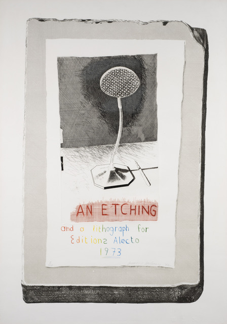 David Hockney, 'An Etching and a Lithograph for Editions Alecto', 1973, Redfern Gallery Ltd.