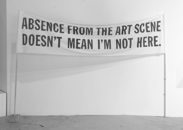 , 'Absence From the Art Scene Doesn't Mean I'm Not Here ,' 2009, : BARIL