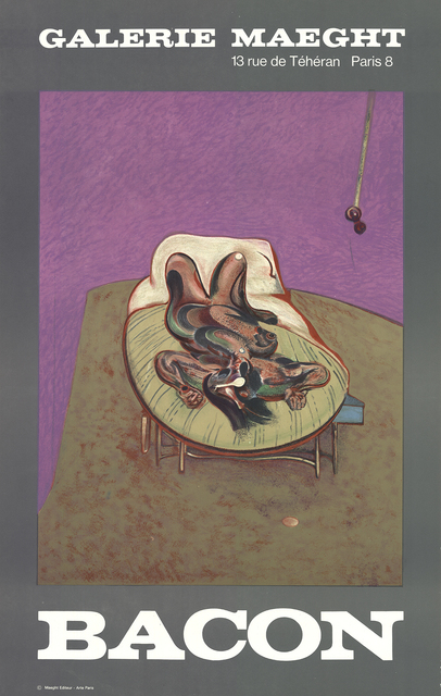 Francis Bacon-Galerie Lelong-1987 Poster