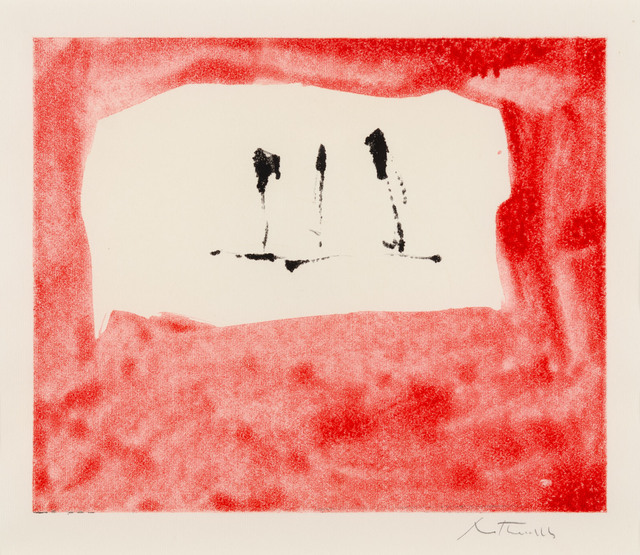 Robert Motherwell, 'Untitled (Phoenician Red)', 1976, Print, Monotype in colors on wove paper, Galerie d'Orsay