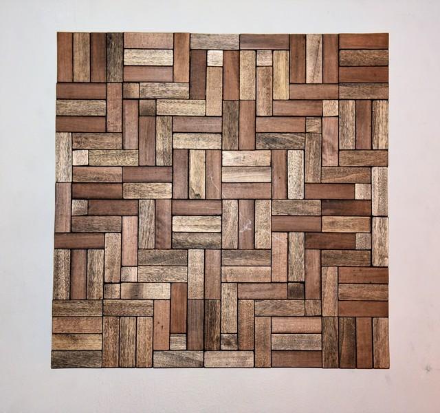 , 'Tessellation in wood II,' 2017, India Dickinson