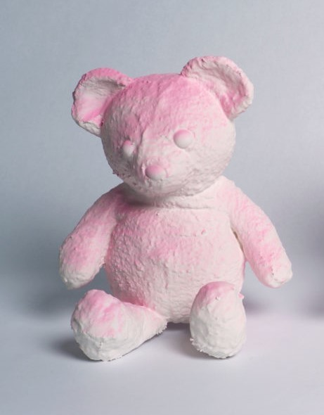 Daniel Arsham, 'Cracker Bear (Pink)', 2019, Sculpture, Sculpture made of Pigment, Plaster and Fabric, Curator Style