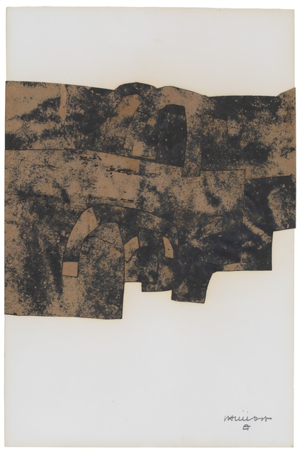 Eduardo Chillida, 'Untitled ', 1971 , Drawing, Collage or other Work on Paper, Mixed Media Collage on paper, Galerie F. Hessler
