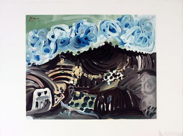 Pablo Picasso, 'Vue Depuis L'Atelier De L'Artiste', 1980, Print, Stone Lithograph, ArtWise