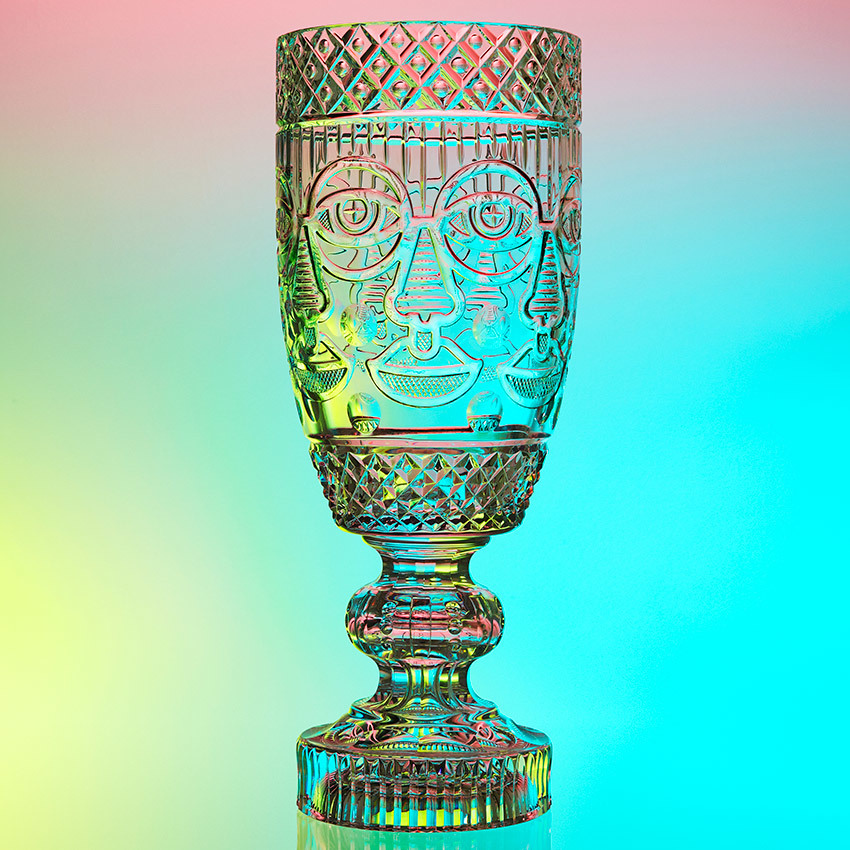 Crystaleyezed Vase