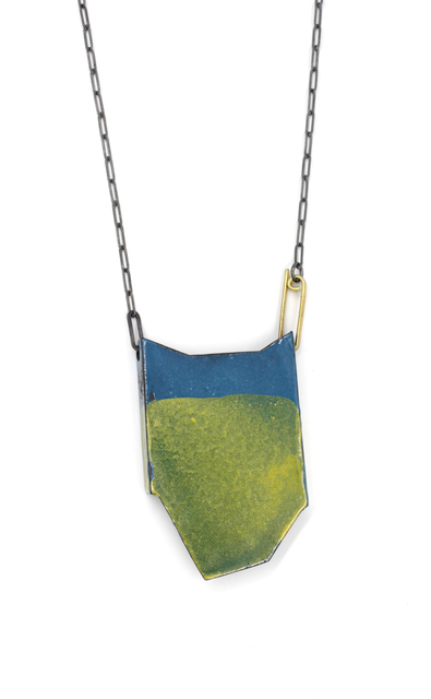 , 'Blue & Orange Folded Necklace ,' 2017, Facèré Jewelry Art Gallery