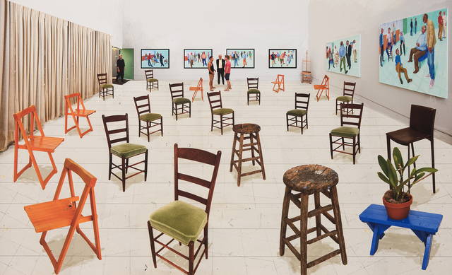David Hockney, 'Sparer Chairs', 32315, Galerie Lelong & Co.