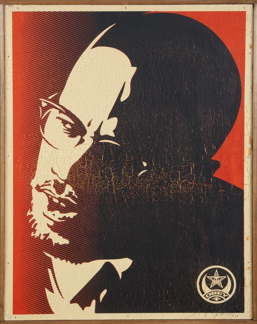 Shepard Fairey (OBEY), 'Malcolm X', 2006, Julien's Auctions