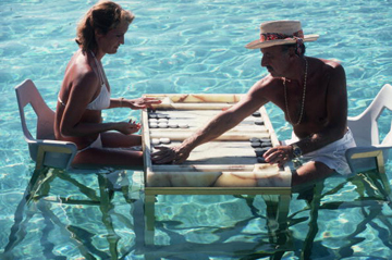, 'Keep your Cool, 1978: Carmen Alvarez enjoying a game of backgammon with Frank Brandstetter in a swimming pool in Acapulco, Mexico ,' 1978, Staley-Wise Gallery